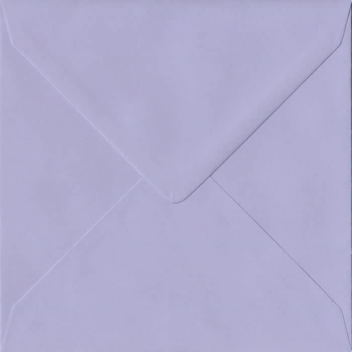 Lilac Pastel Gummed S4 155mm x 155mm Individual Coloured Envelope