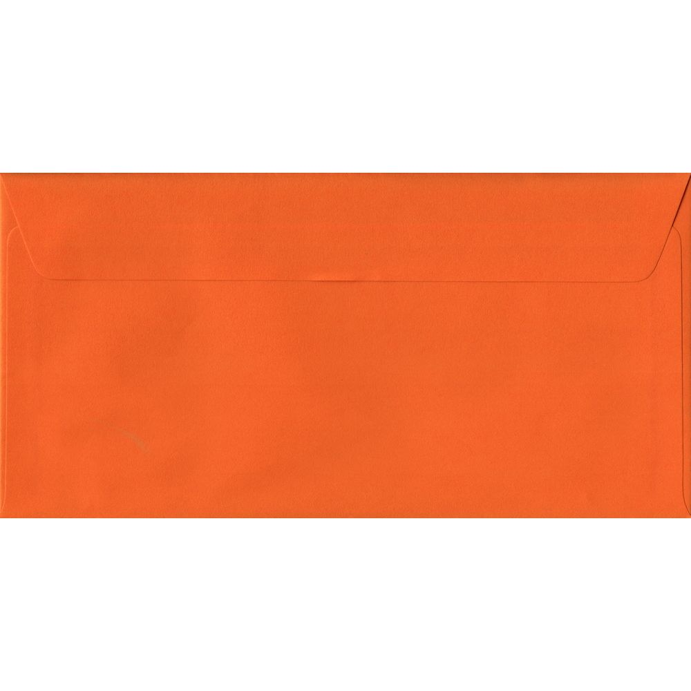 Orange Plain Peel And Seal DL 110mm x 220mm Individual Coloured Envelope