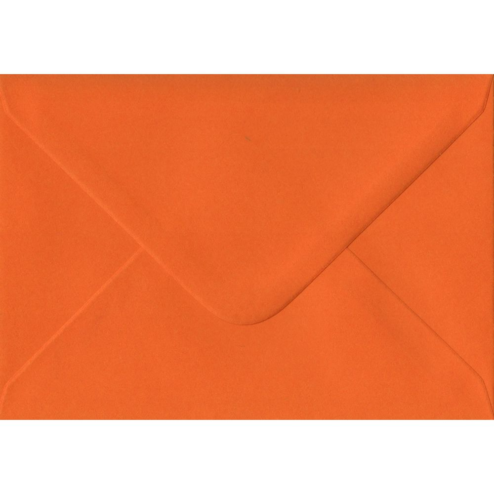 Orange Plain Gummed C6 114mm x 162mm Individual Coloured Envelope