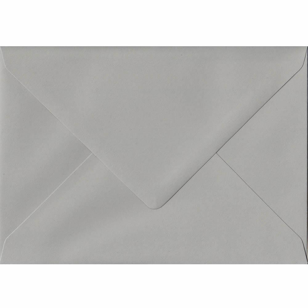 100 A6 Grey Envelopes. Owl Grey. 114mm x 162mm. 120gsm paper. Gummed Flap.