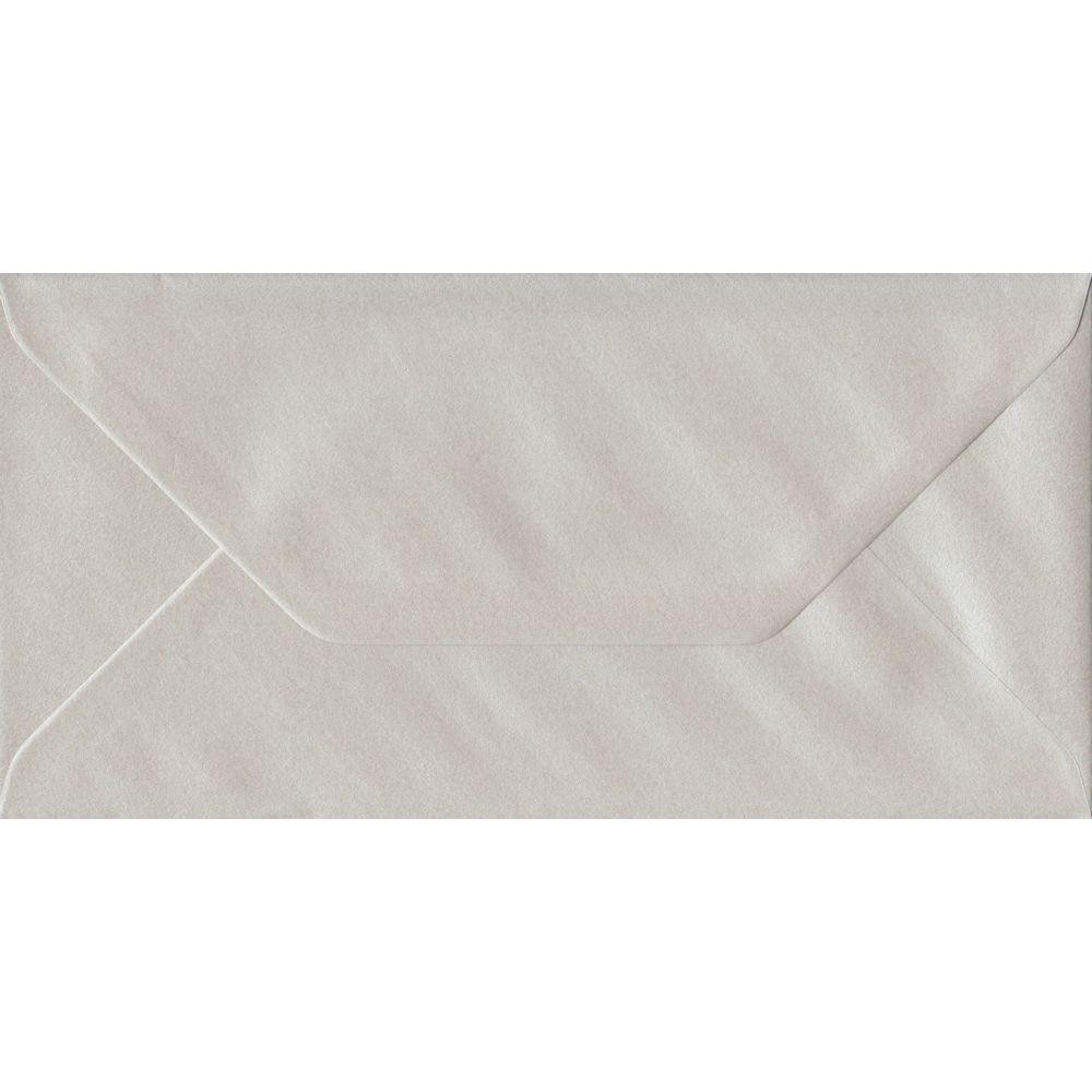 Pearlescent Oyster Gummed DL 110mm x 220mm Gummed Individual Coloured Envelope