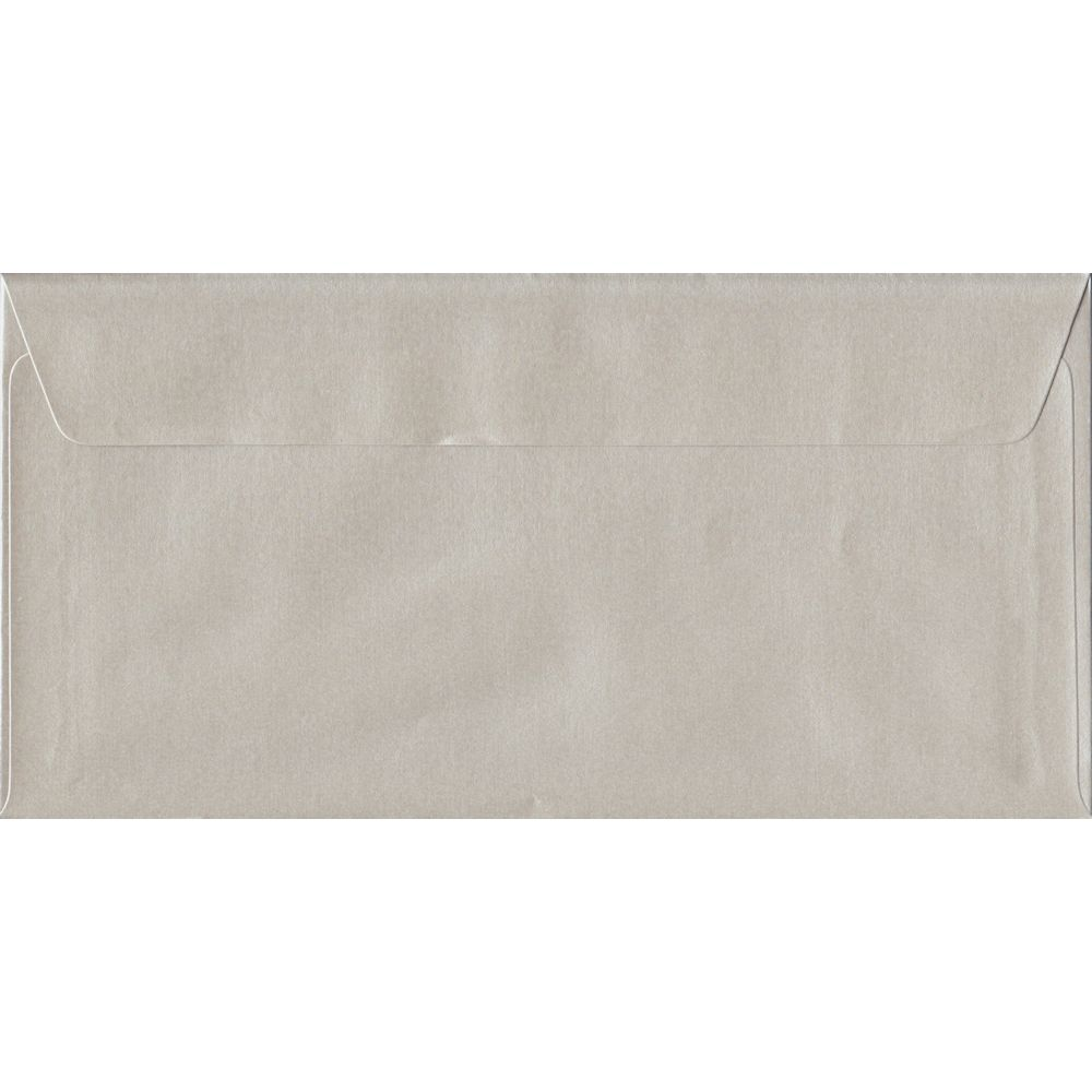 Pearlescent Oyster DL 110mm x 220mm Peel/Seal Individual Coloured Envelope