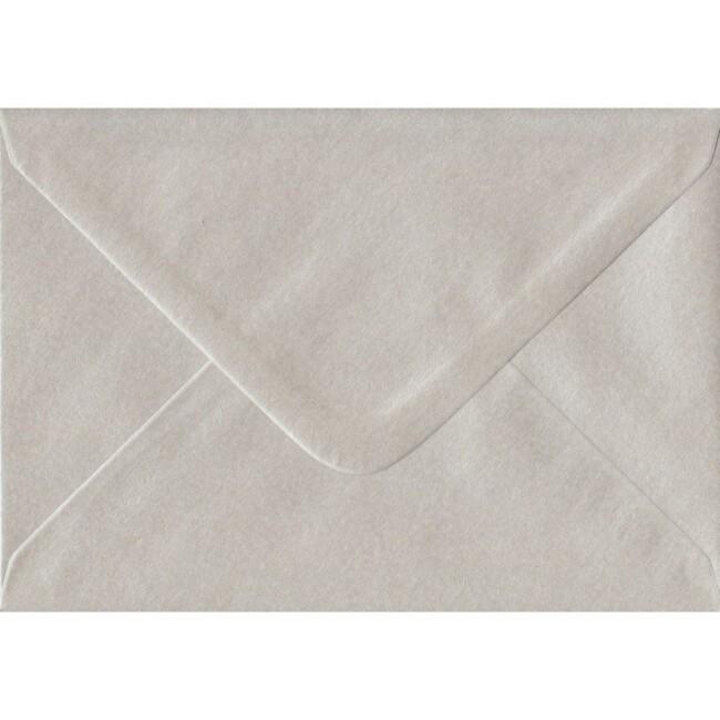 Pearlescent Oyster Gummed C6/A6 114mm x 162mm Gummed Individual Coloured Envelope