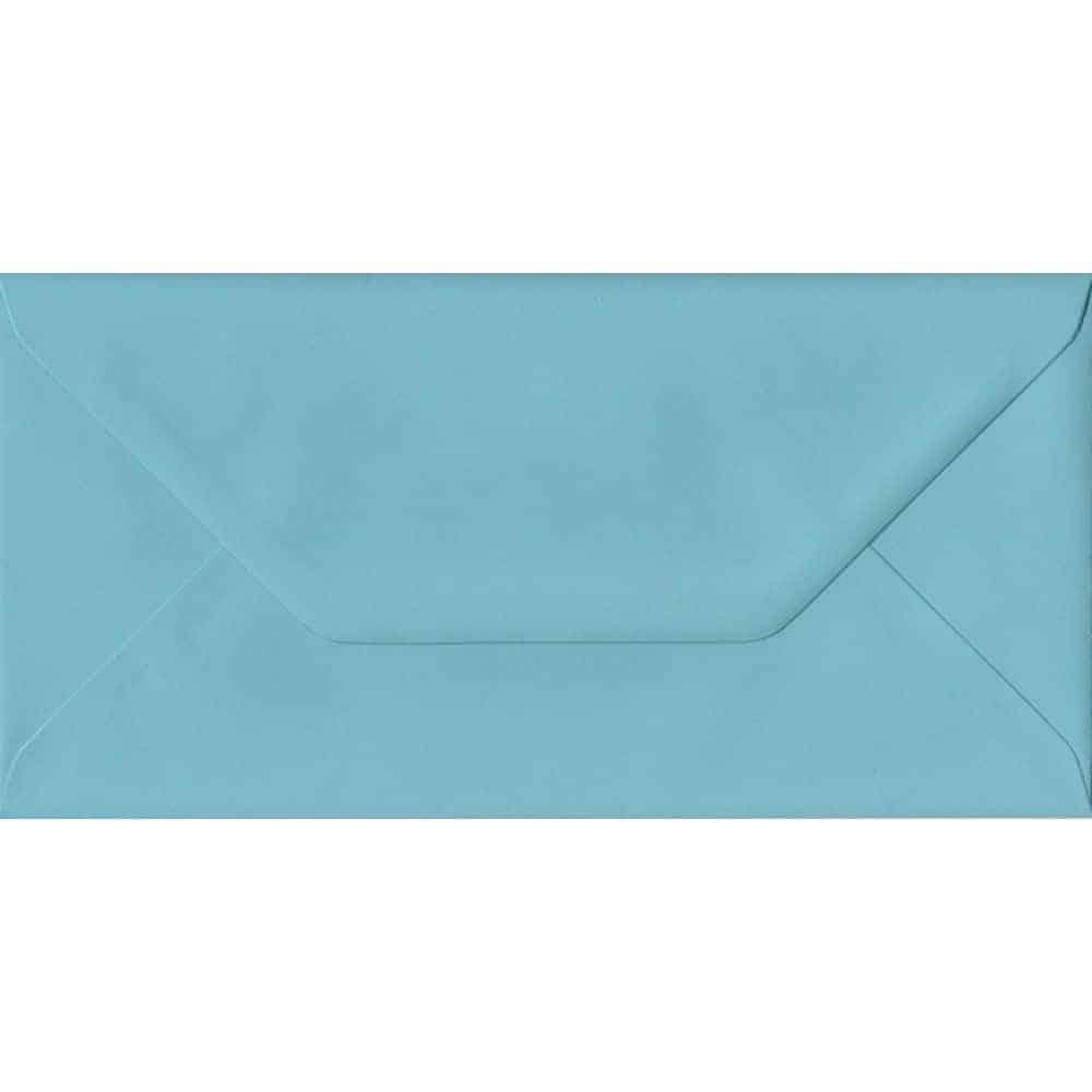 Blue Pastel Gummed DL 110mm x 220mm Individual Coloured Envelope