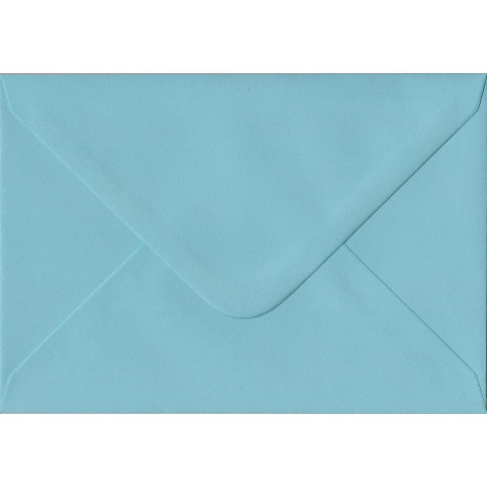 Blue Pastel Gummed C6 114mm x 162mm Individual Coloured Envelope