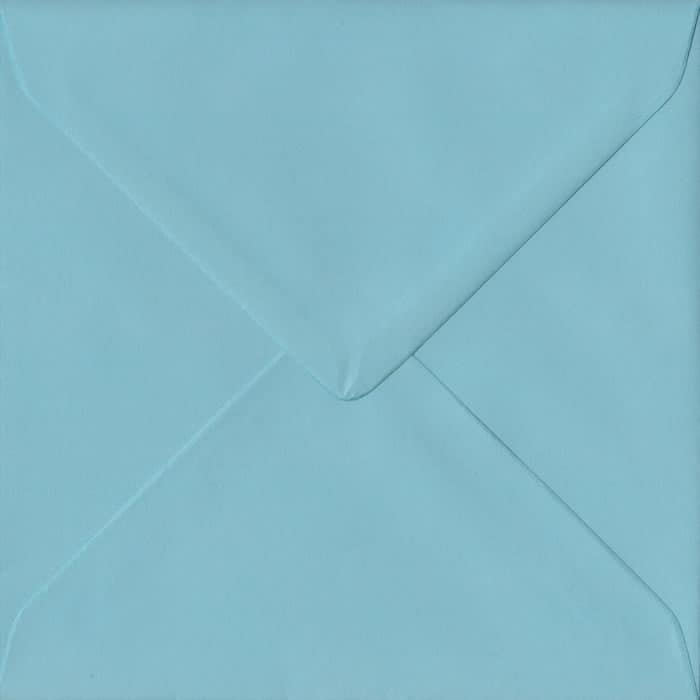 Blue Pastel Gummed S4 155mm x 155mm Individual Coloured Envelope
