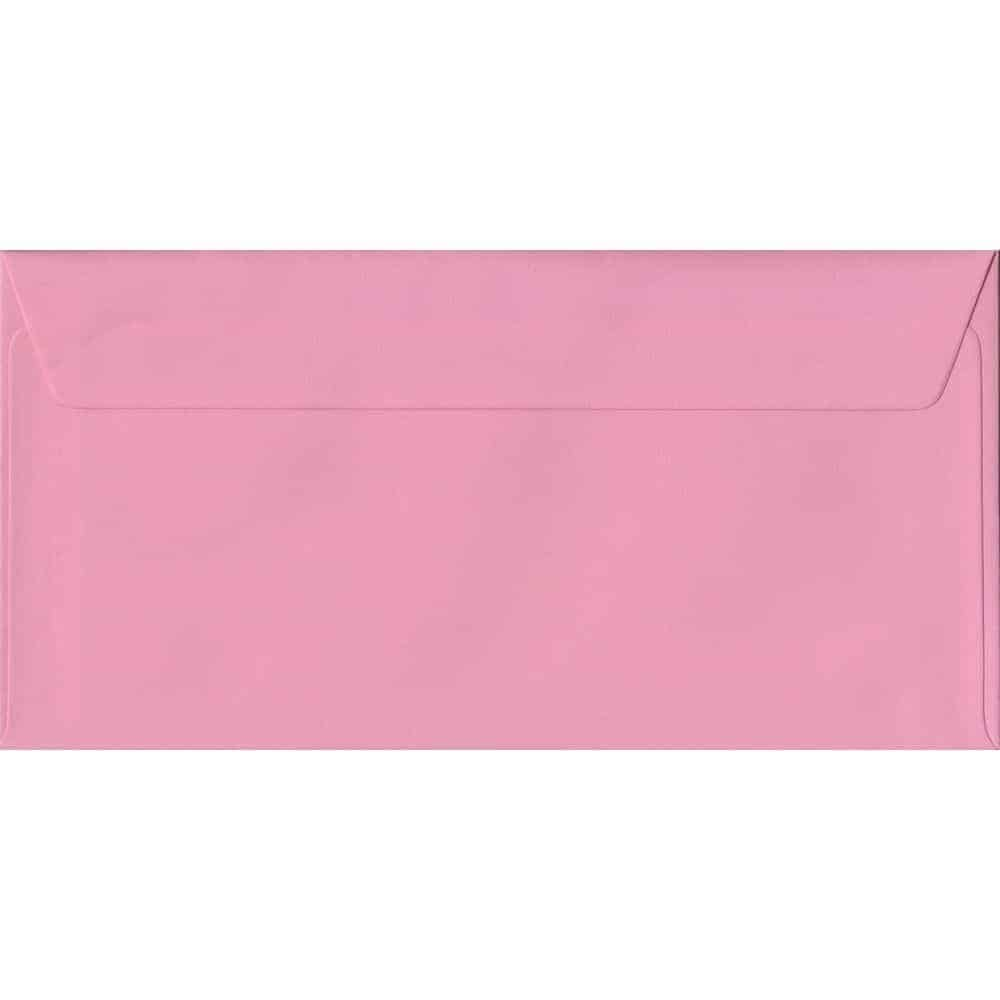 Pink Pastel Peel And Seal DL 110mm x 220mm Individual Coloured Envelope