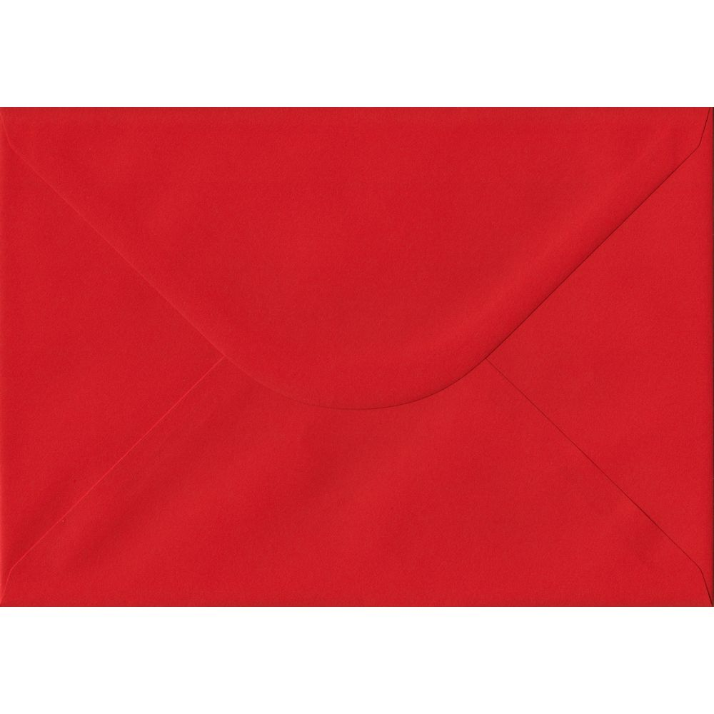 Poppy Red Plain Gummed C5 162mm x 229mm Individual Coloured Envelope