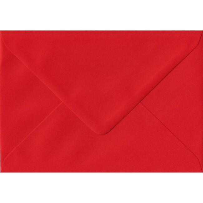Poppy Red Plain Gummed G4 152mm x 216mm Individual Coloured Envelope