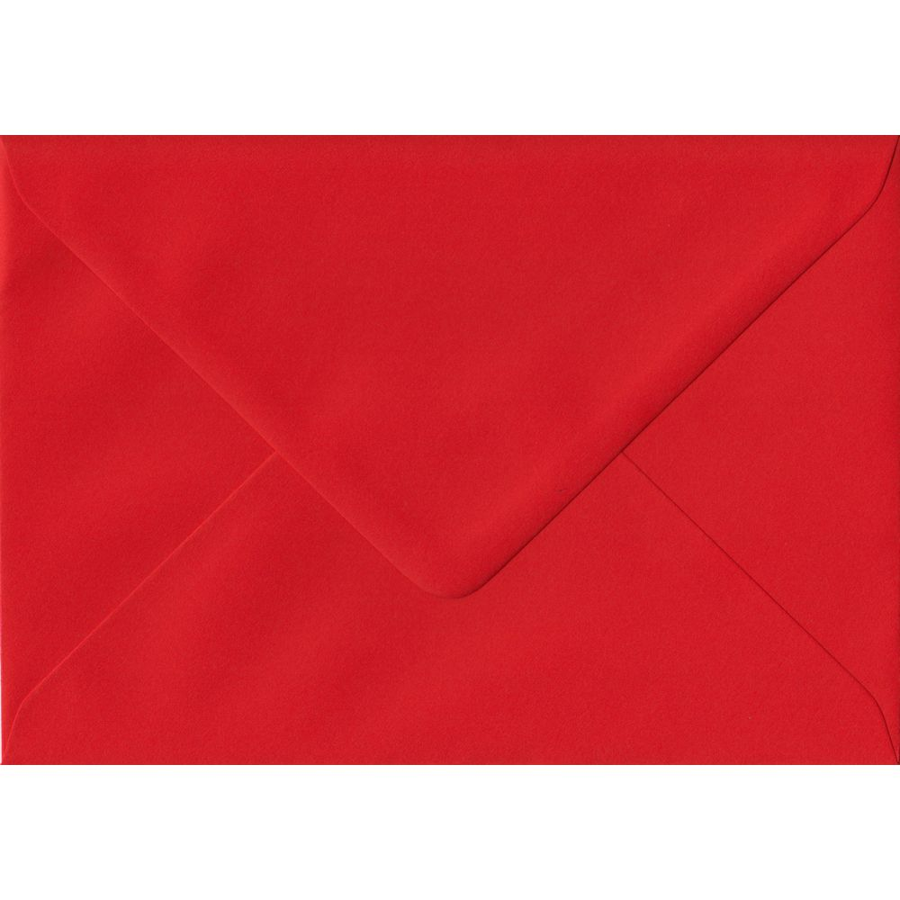 Poppy Red Plain Gummed G4 152mm x 216mm Individual Coloured Envelope
