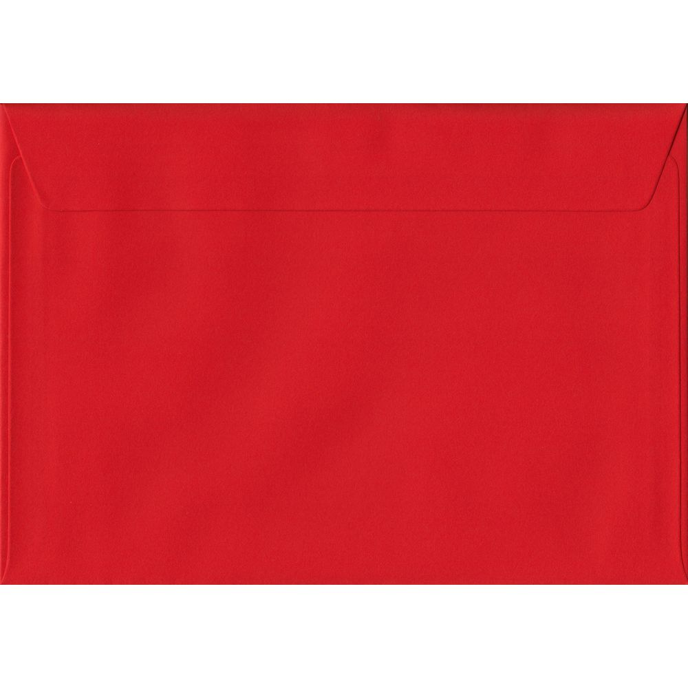 Poppy Red Plain Peel And Seal C6 114mm x 162mm Individual Coloured Envelope