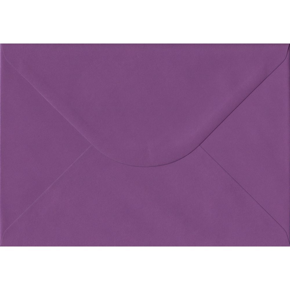 Purple Plain Gummed C5 162mm x 229mm Individual Coloured Envelope