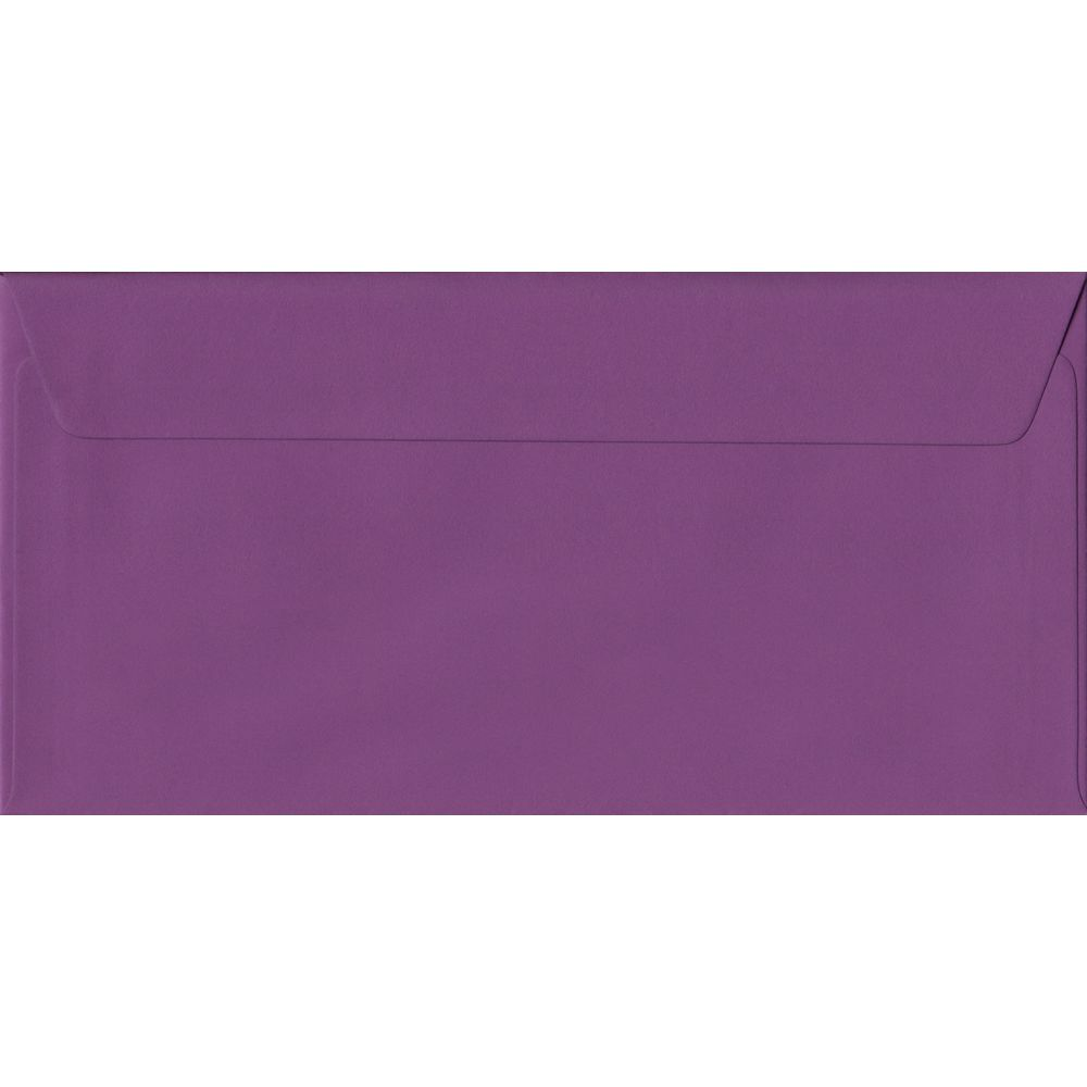 Purple Plain Peel And Seal DL 110mm x 220mm Individual Coloured Envelope