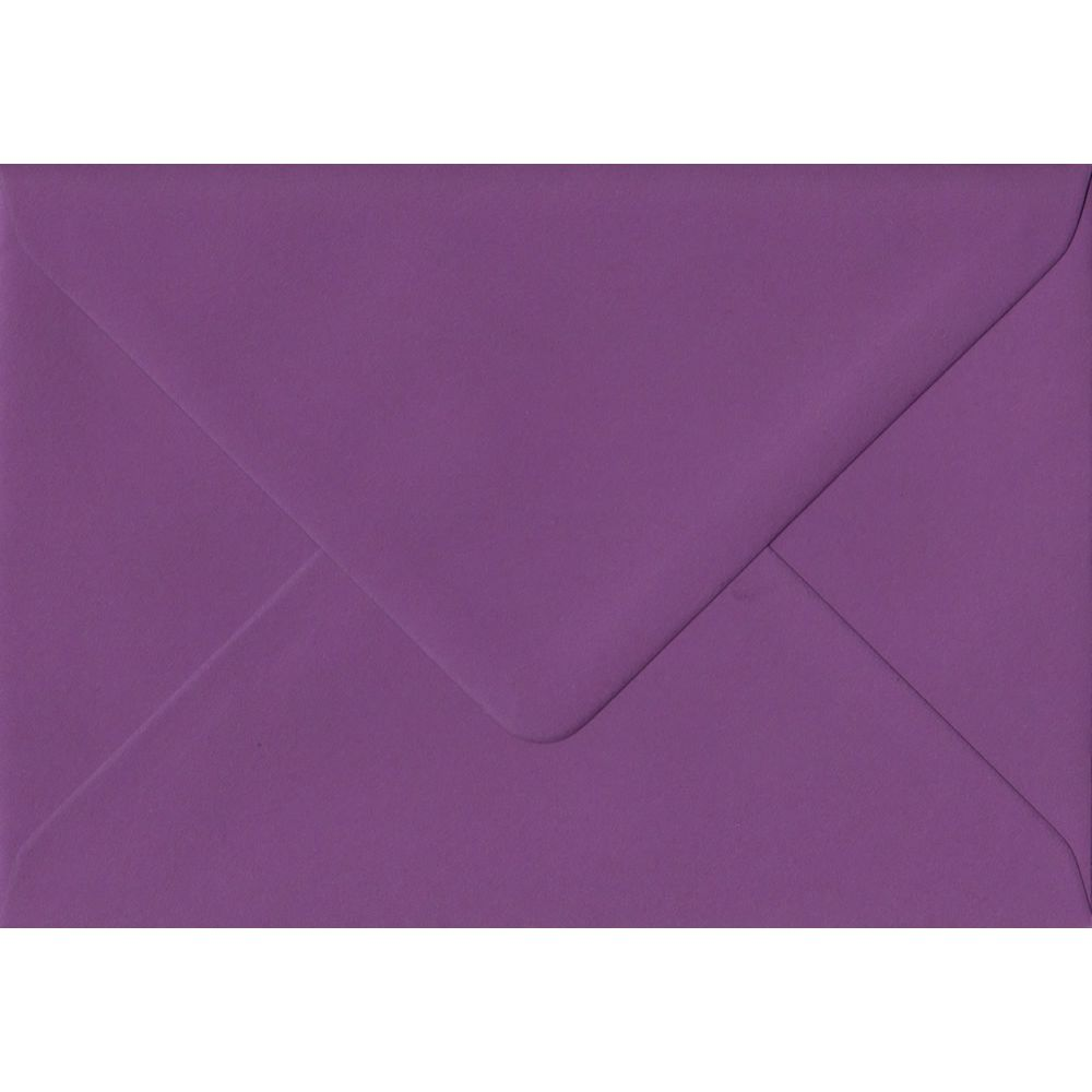 Purple Plain Gummed Place Card 70mm x 110mm Individual Coloured Envelope