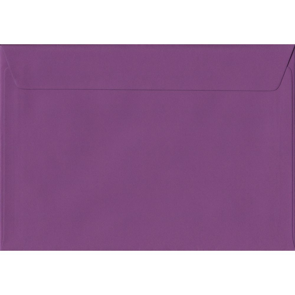 Purple Plain Peel And Seal C5 162mm x 229mm Individual Coloured Envelope