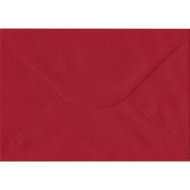 Scarlet Red Plain Gummed C5 162mm x 229mm Individual Coloured Envelope