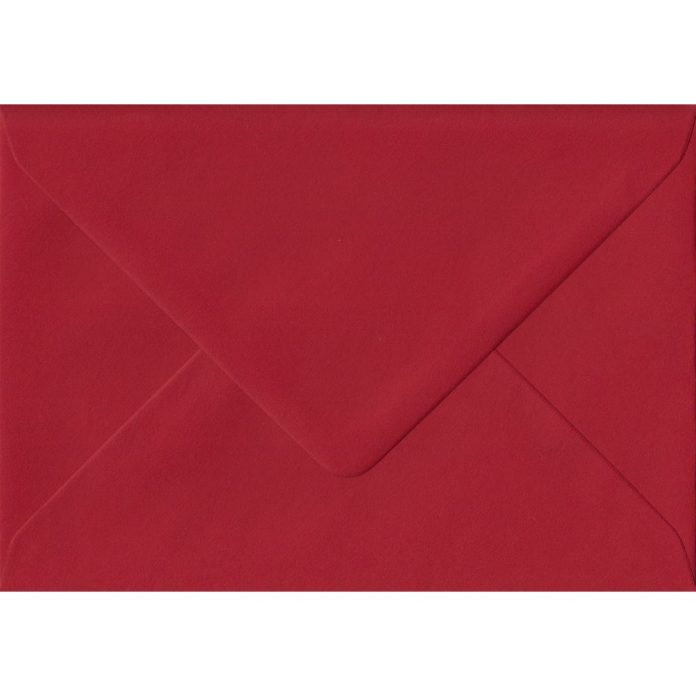 Scarlet Red Plain Gummed Place Card 70mm x 110mm Individual Coloured Envelope