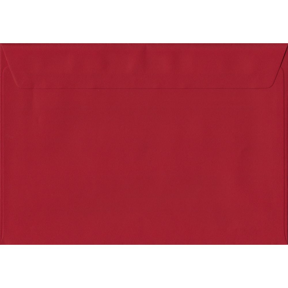 Scarlet Red Plain Peel And Seal C5 162mm x 229mm Individual Coloured Envelope