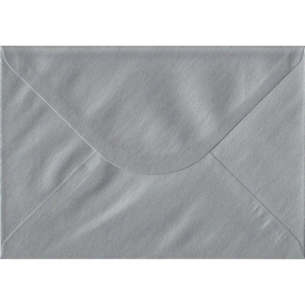 Silver Metallic Gummed C5 162mm x 229mm Individual Coloured Envelope