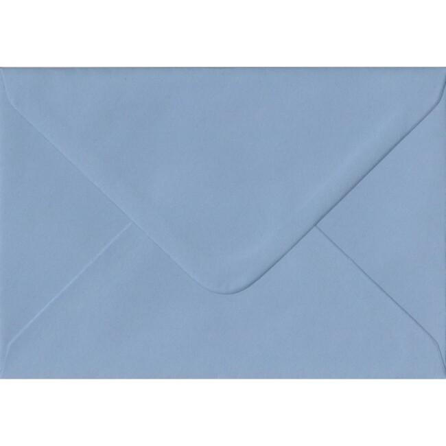 Wedgwood Blue Plain Gummed C6 114mm x 162mm Individual Coloured Envelope