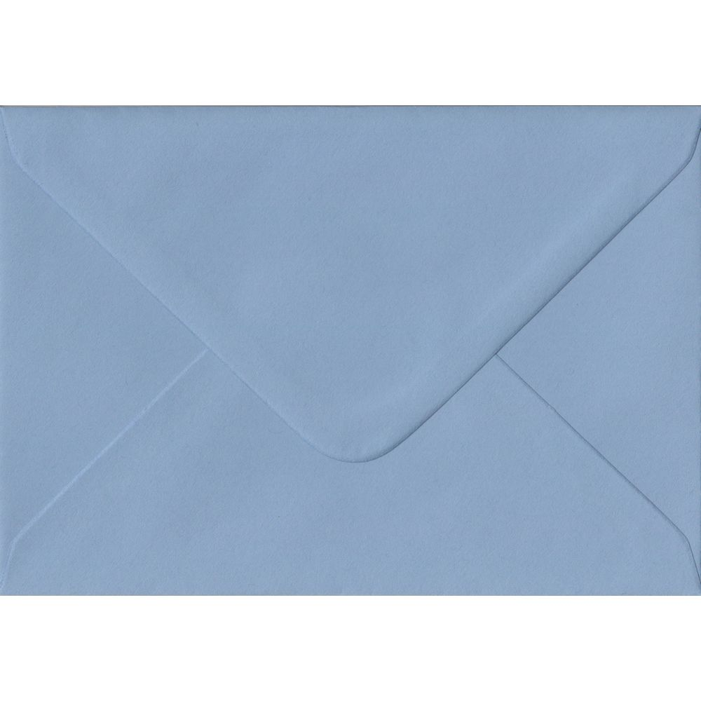 Wedgwood Blue Plain Gummed C6 114mm x 162mm Individual Coloured Envelope