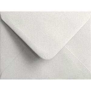 White Pastel Gummed Place Card 70mm x 110mm Individual Coloured Envelope