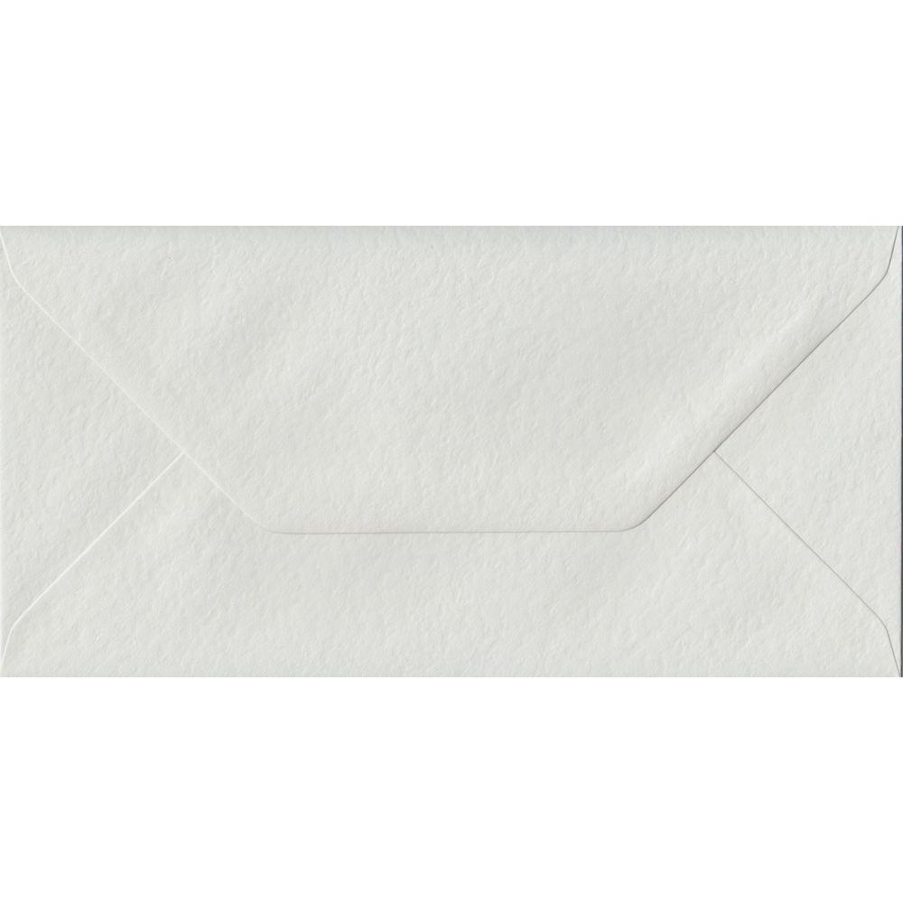 White Hammer Textured Gummed DL 110mm x 220mm Individual Coloured Envelope