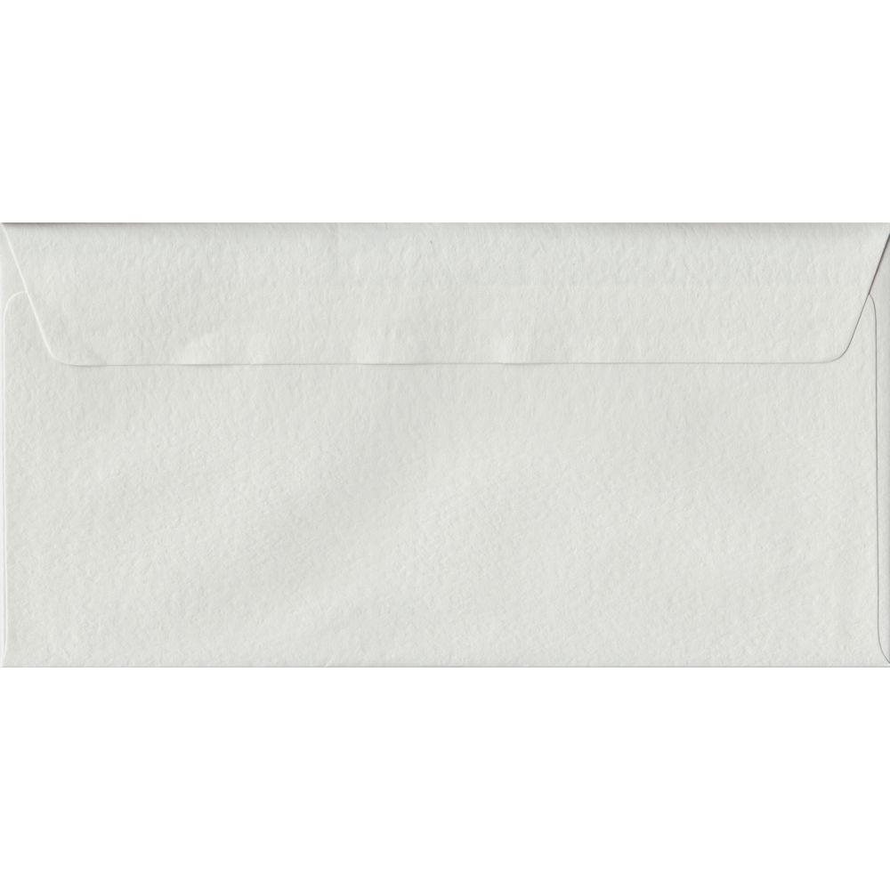 White Hammer Textured Peel And Seal DL 110mm x 220mm Individual Coloured Envelope