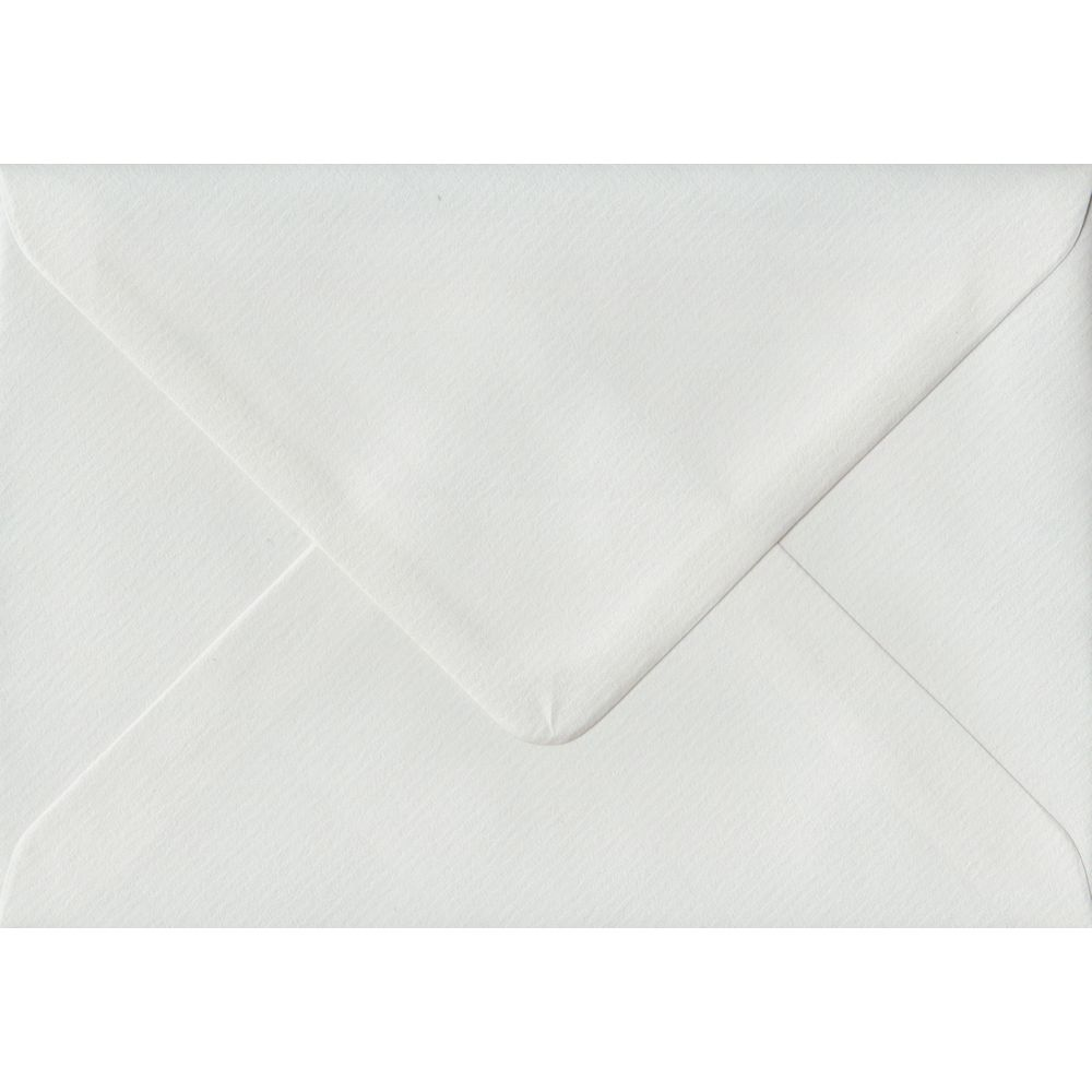 White Laid Textured Gummed C6 114mm x 162mm Individual Coloured Envelope