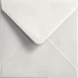 White Pastel Gummed S4 155mm x 155mm Individual Coloured Envelope