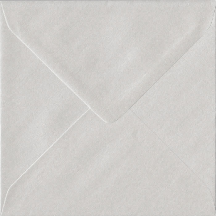 White Pearl 130mm x 130mm 100gsm Gummed Small Square Sized Envelope