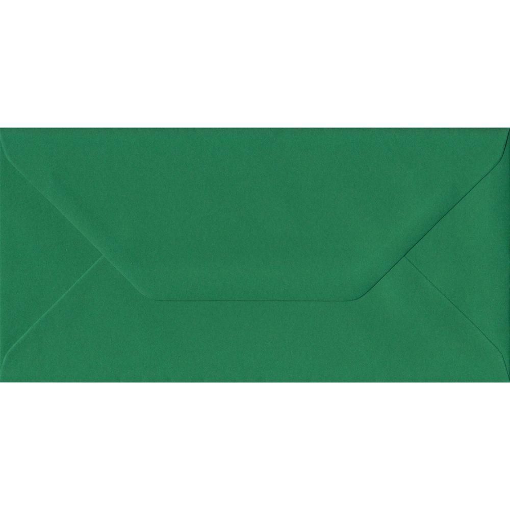 Xmas Green Premium Gummed DL 110mm x 220mm Individual Coloured Envelope