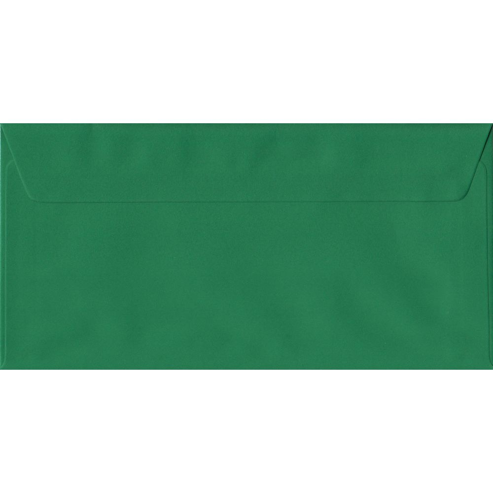Xmas Green Premium Peel And Seal DL 110mm x 220mm Individual Coloured Envelope