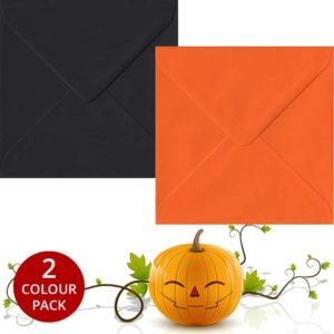 Halloween Pack 50 S4 Gummed Envelopes -Black/Orange
