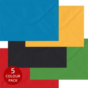 Olympic Pack 100 C5 Self Seal Envelopes -Five Olympic Colours