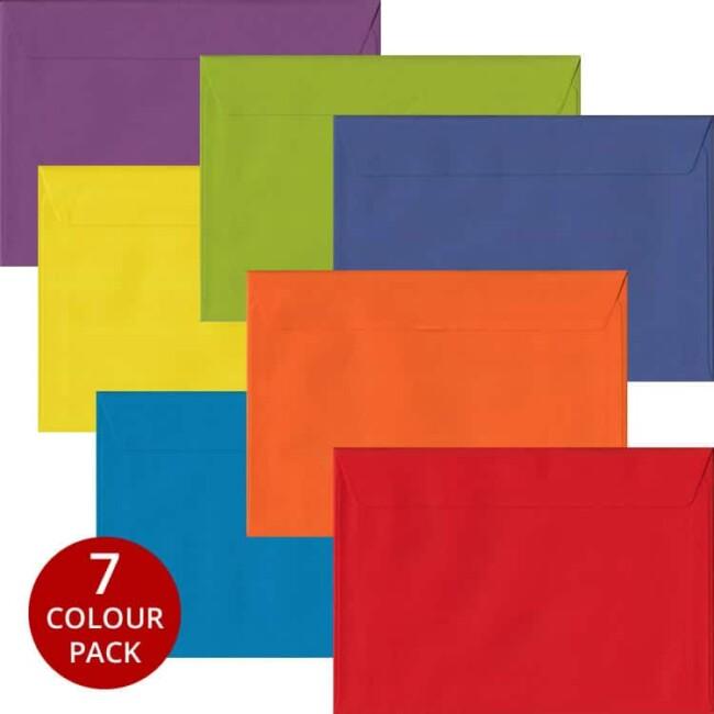 Rainbow Pack 105 C5 Self Seal Envelopes -Seven Different Colours