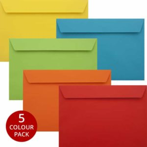 Colour Pack 50 Vibrant C5 Self Seal Luxury 120gsm Envelopes