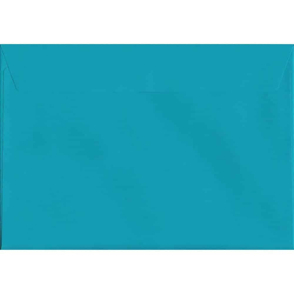 A4 Blue Envelope - Caribbean Blue Peel/Seal C4 324mm x 229mm 120gsm Luxury Coloured Envelope