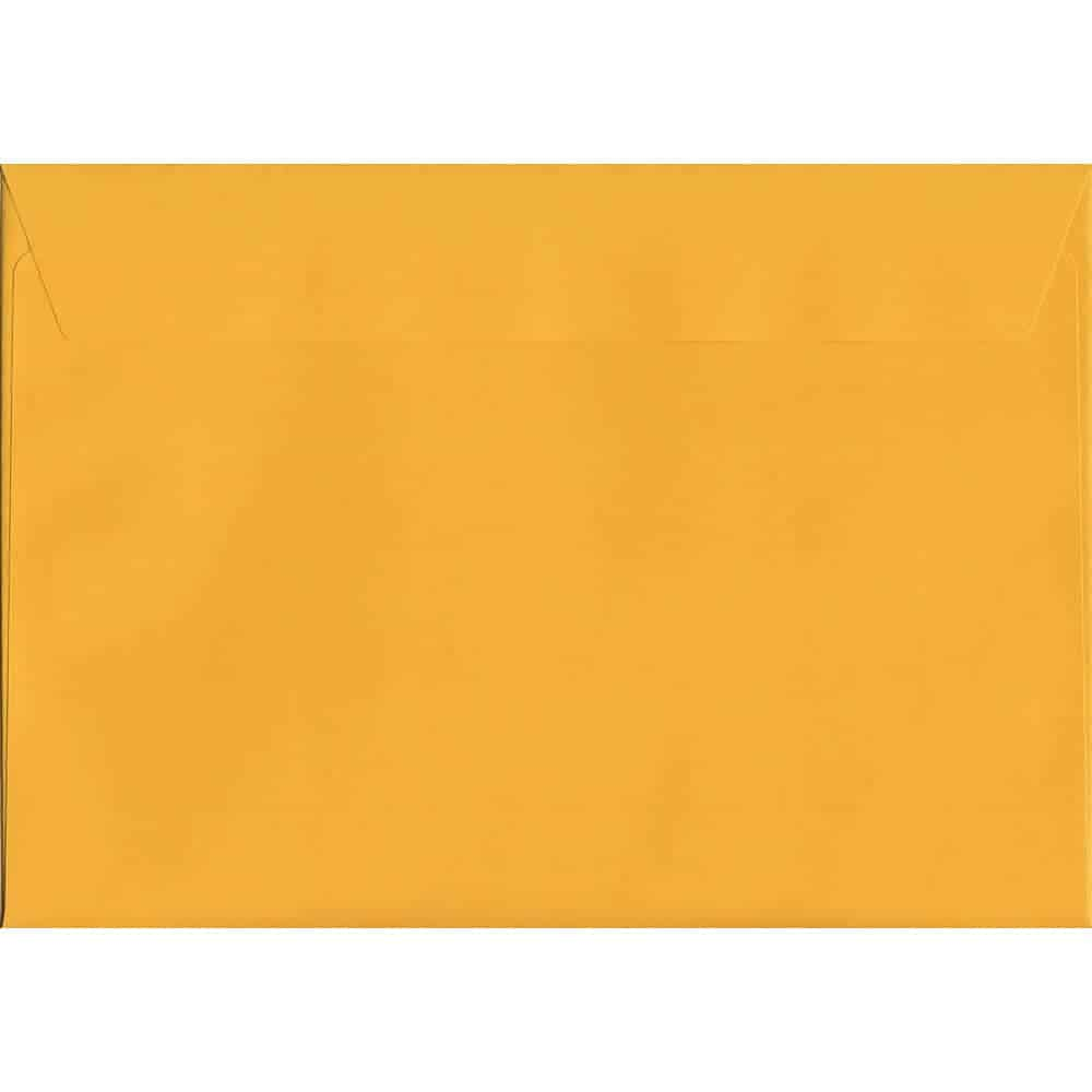 A4 Yellow Envelope - Golden - Yellow Peel/Seal C4 324mm x 229mm 120gsm Luxury Coloured Envelope
