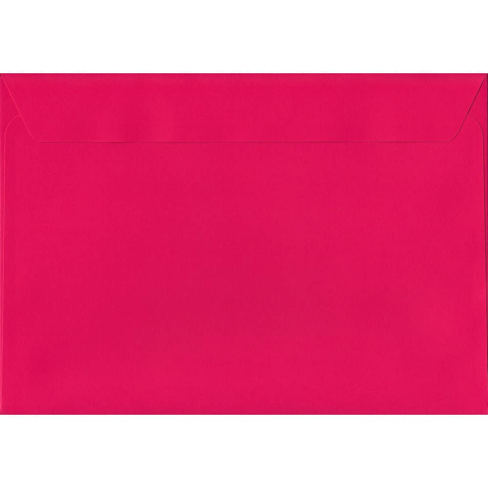 A4 Pink Envelope-Shocking Pink 229mm x 324mm 120gsm Peel/Seal C4/Full Size A4 Sized Envelope