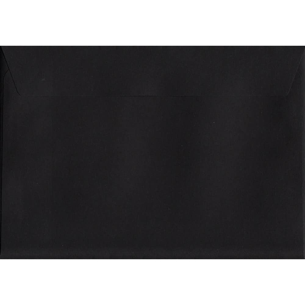 Black Peel/Seal C6 114mm x 162mm 120gsm Luxury Coloured Envelope