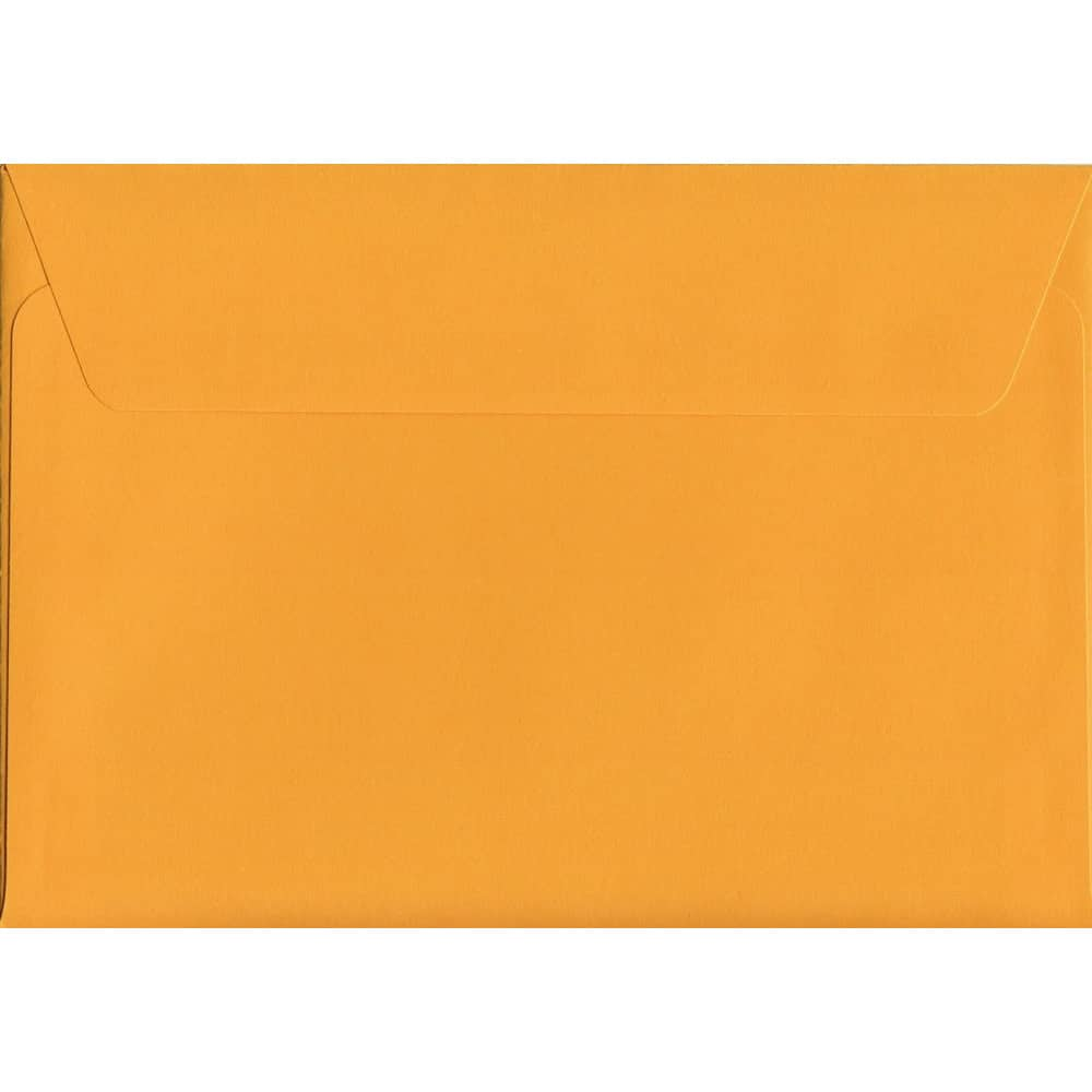 Golden Yellow Peel/Seal C6 114mm x 162mm 120gsm Luxury Coloured Envelope