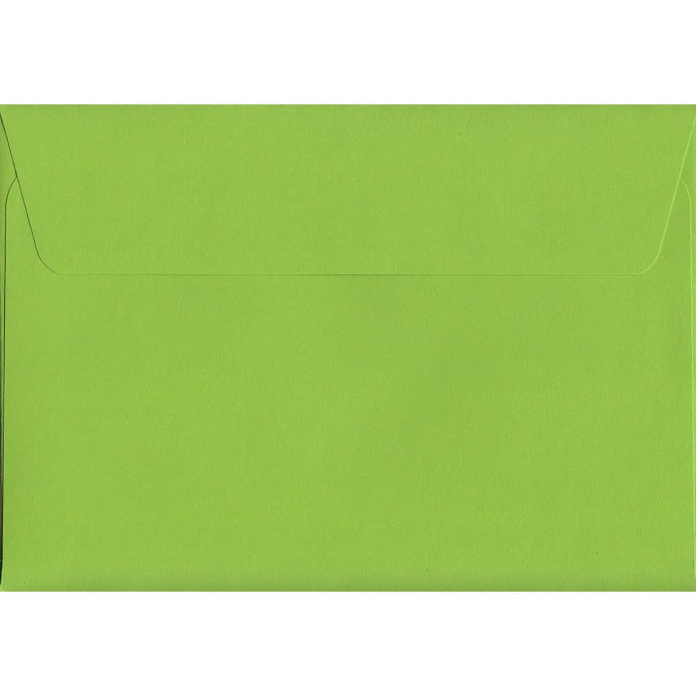 Lime Green Peel/Seal C6 114mm x 162mm 120gsm Luxury Coloured Envelope