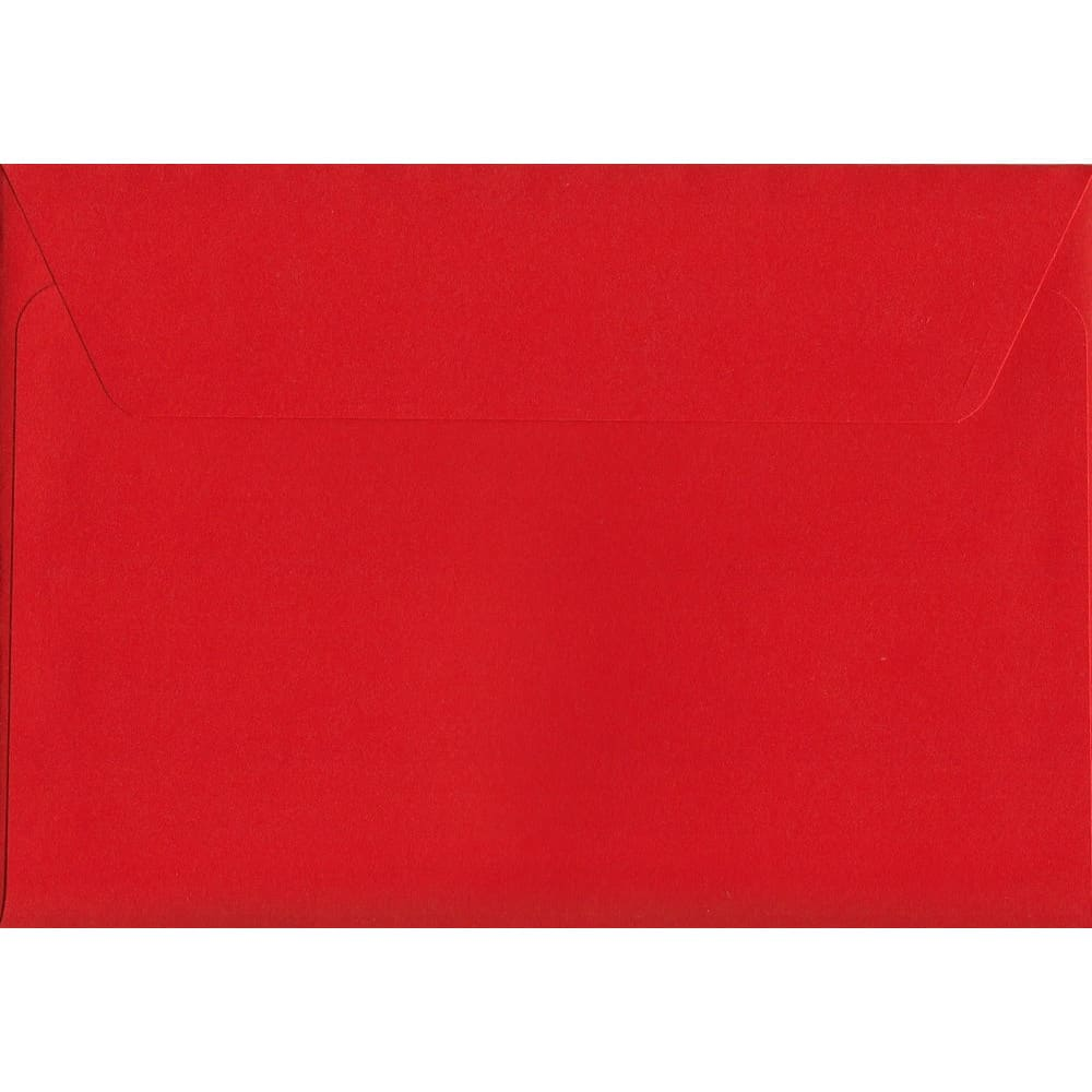 Pillar Box Red Peel/Seal C6 114mm x 162mm 120gsm Luxury Coloured Envelope