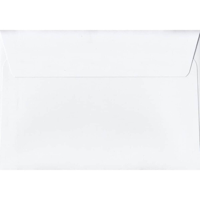 White 114mm x 162mm 120gsm Peel/Seal C6/Quarter A4 Sized Envelope
