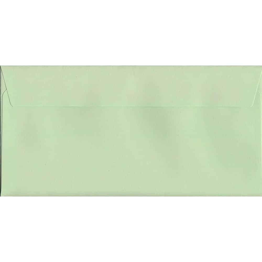 Spearmint Green Peel/Seal DL 114mm x 229mm 120gsm Luxury Coloured Envelope
