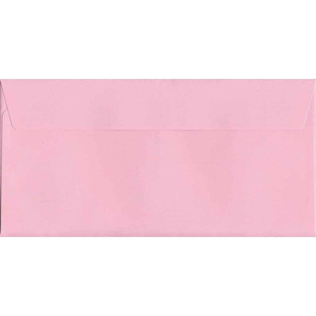 Baby Pink Peel/Seal DL 114mm x 229mm 120gsm Luxury Coloured Envelope