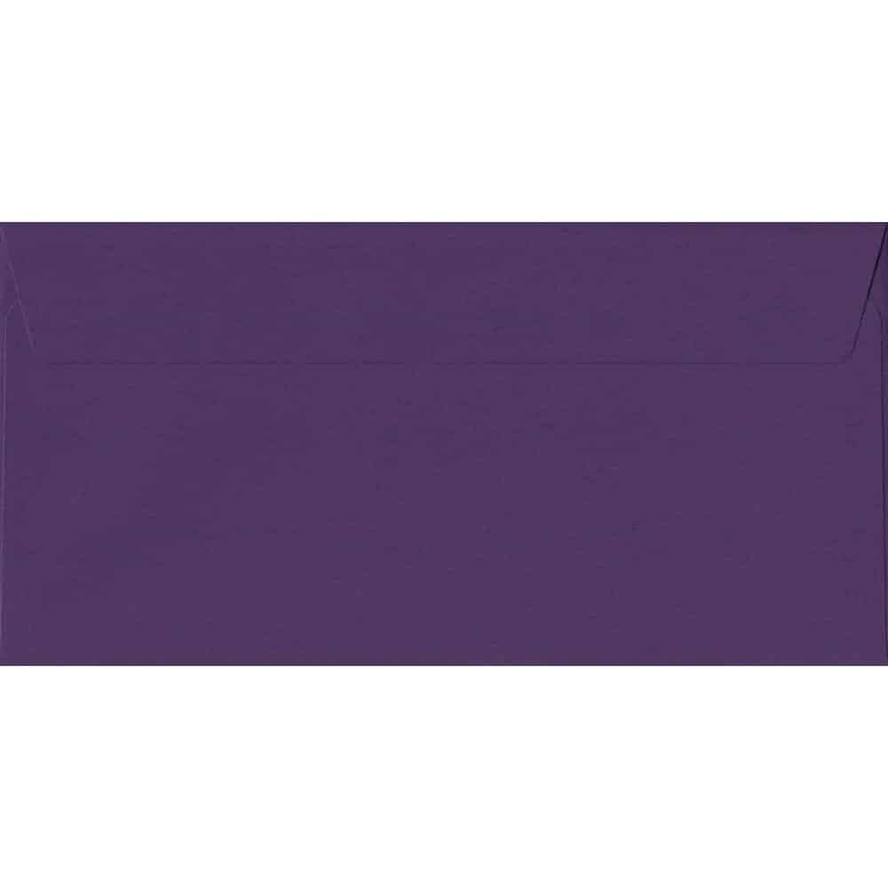 Blackcurrant 114mm x 229mm 120gsm Peel/Seal DL/Tri-Fold A4 Sized Envelope