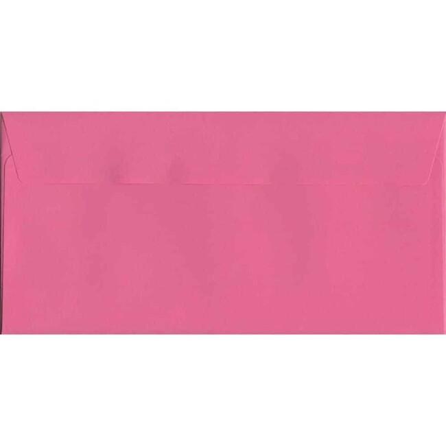 Cerise Pink Peel/Seal DL 114mm x 229mm 120gsm Luxury Coloured Envelope