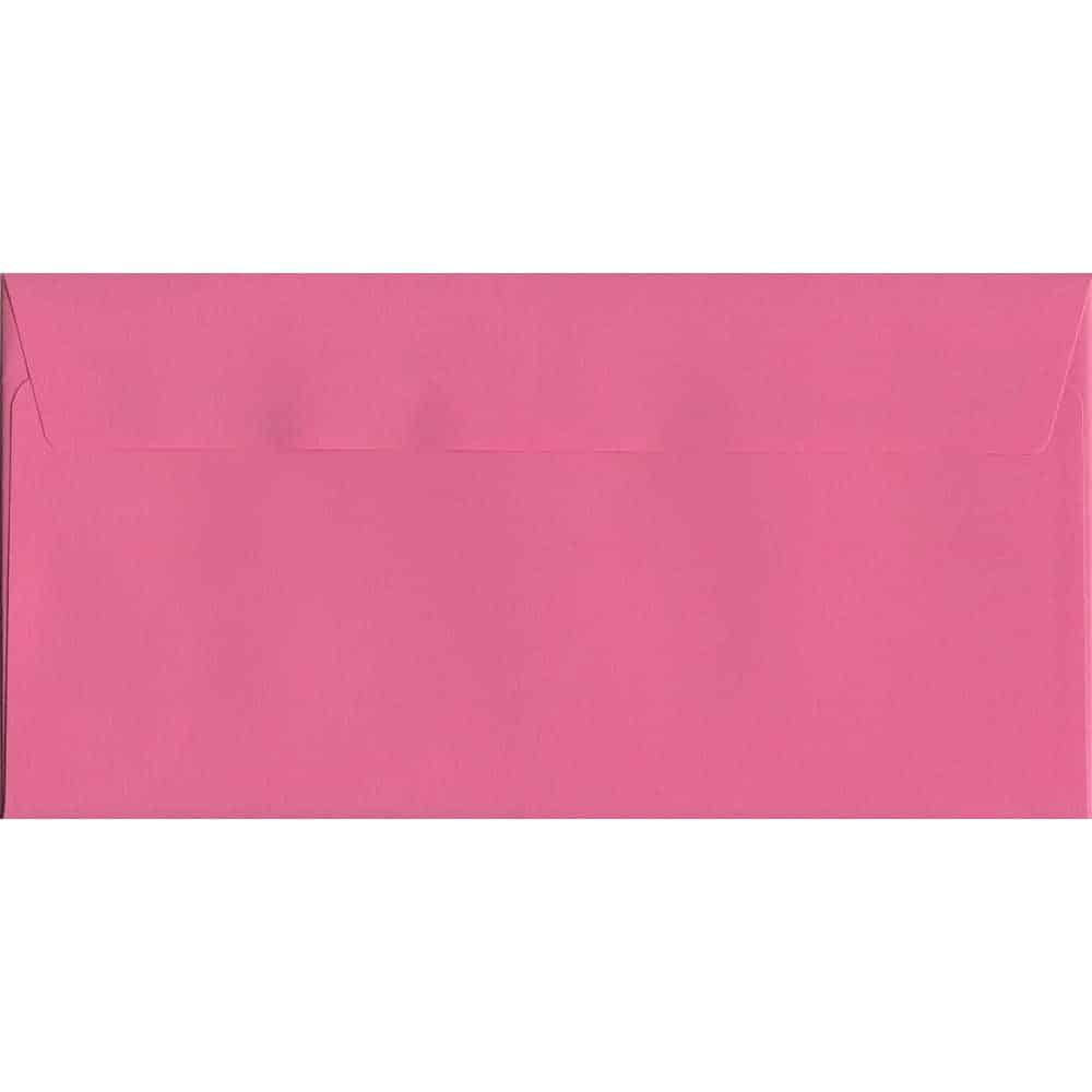 Cerise Pink Peel/Seal DL 114mm x 229mm 120gsm Luxury Coloured Envelope